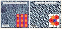 Archimedean Tilings and Hierarchical Lamellar Morphology Formed by Semicrystalline Miktoarm Star Terpolymer Thin Films